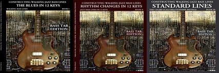 constructing walking jazz bass lines  complete bass tab set tab complete set