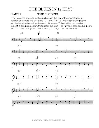 jazz bass lines constructing walking jazz bass lines the blues in 12 keys 9780982957011