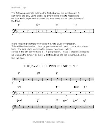 jazz bass lines constructing walking jazz bass lines the blues in 12 keys walking bass lines 9780982957011b