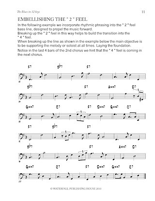 jazz bass lines constructing walking jazz bass lines the blues in 12 keys walking bass lines 9780982957011d