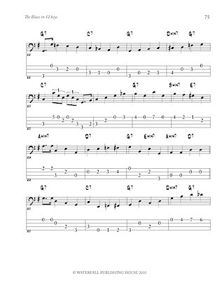 jazz bass tab jazz bass lines constructing walking jazz bass lines walking bass lines the blues in 12 keys bass tab edition 9780982957004e
