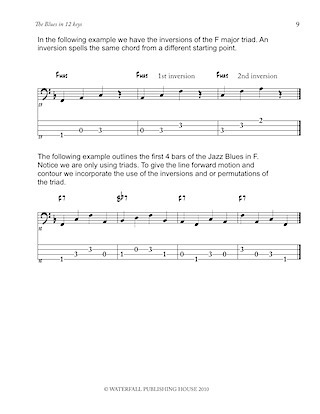 jazz bass tab jazz bass lines constructing walking jazz bass lines walking bass lines the blues in 12 keys bass tab edition 9780982957004b