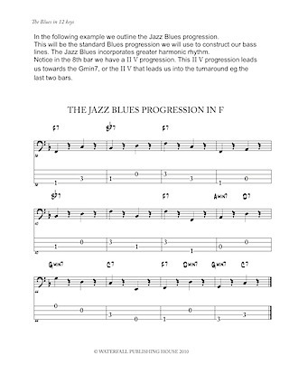 jazz bass tab jazz bass lines constructing walking jazz bass lines walking bass lines the blues in 12 keys bass tab edition 9780982957004c
