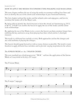 Standard Lines Book III - Bass tab edition Jazz walking bass lines